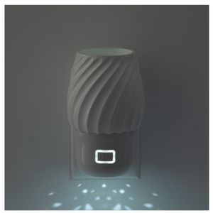 Swivel wall diffuser with night light.